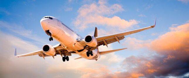 avião no ceu