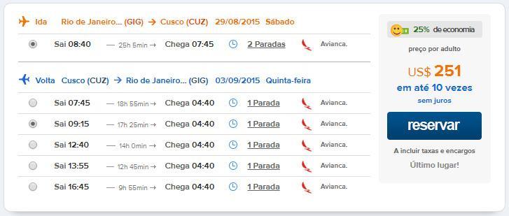 exemplo de voos