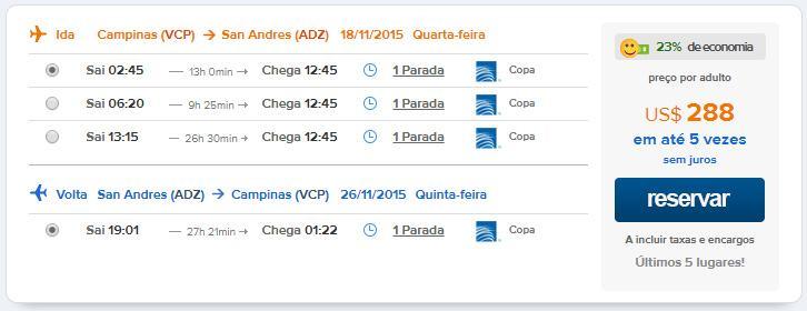 voos internacionais caribe