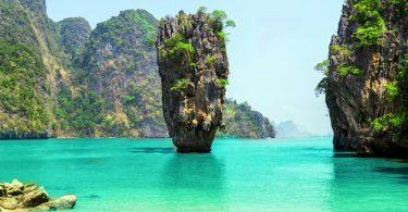 Thailand James Bond stone Island, Phang Nga