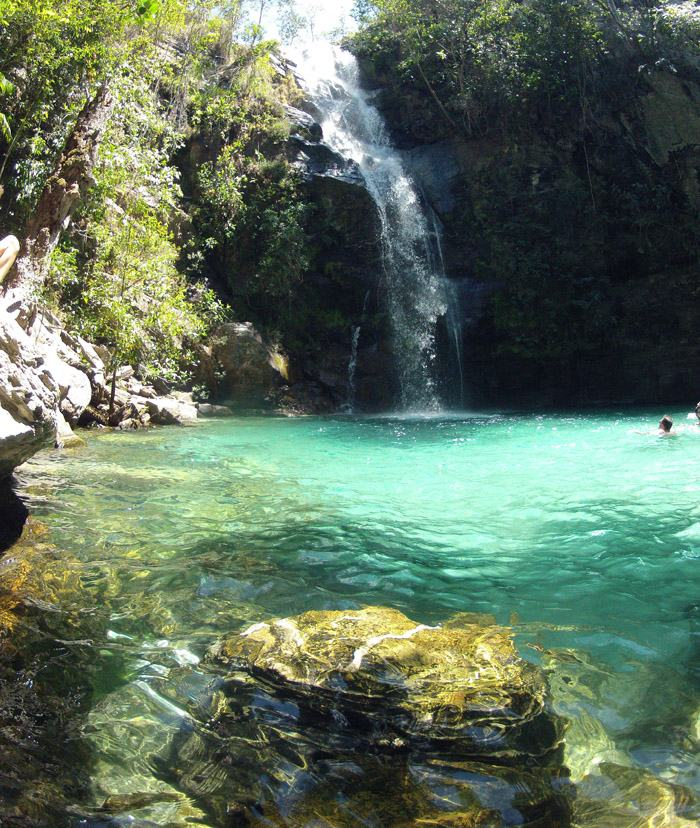 cachoeira santa barbara chapada dos veadeiros go