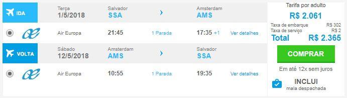 passagens aéreas em promoção amsterdã
