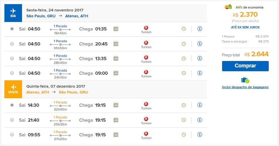 passagens aéreas promocionais atenas grécia