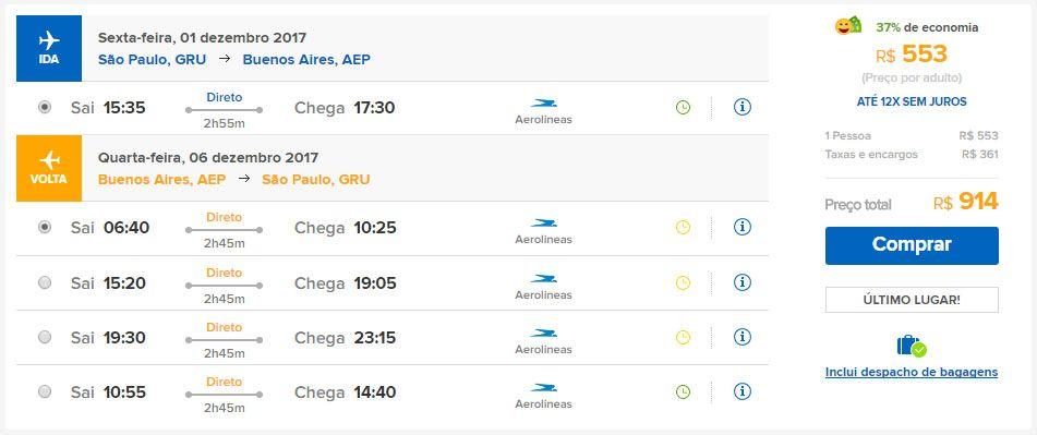 passagens aéreas promocionais buenos aires argentina