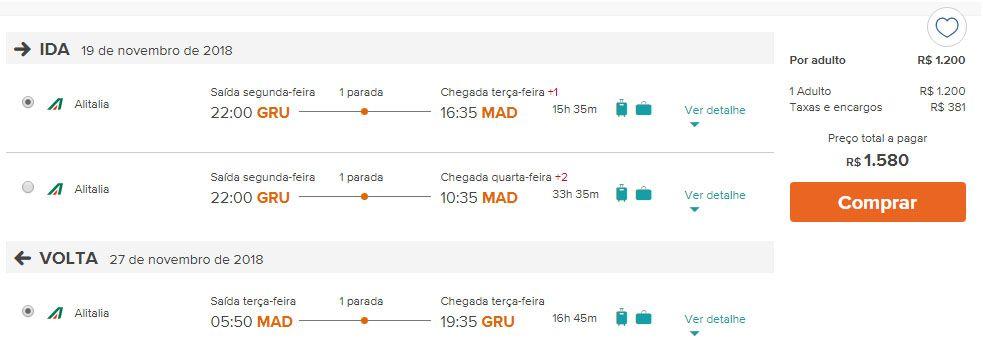 voos em promoção europa