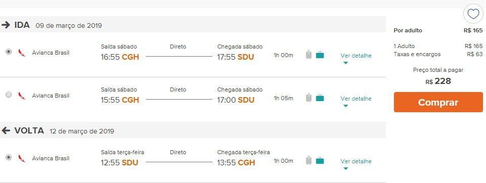 ofertas voos rio de janeiro