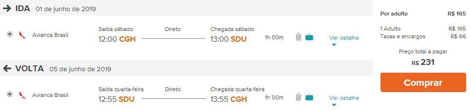 voos promoção rio de janeiro avianca