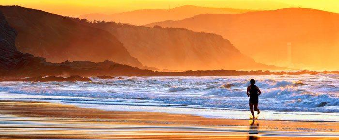 fim de tarde na praia