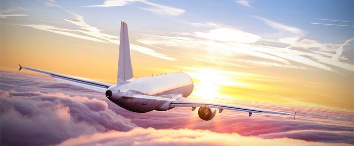 por do sol avião
