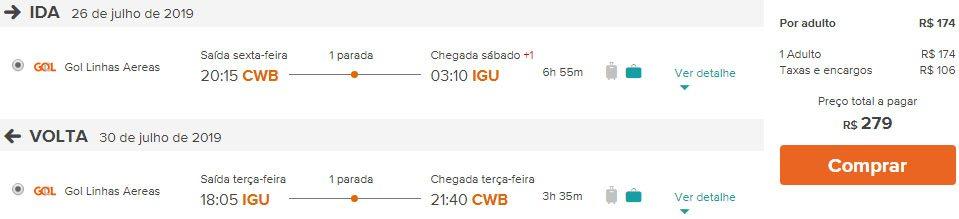 passagens aéreas promoção Foz do Iguaçu
