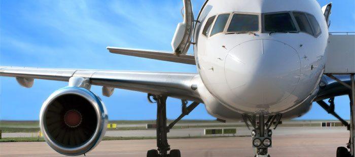 avião em solo