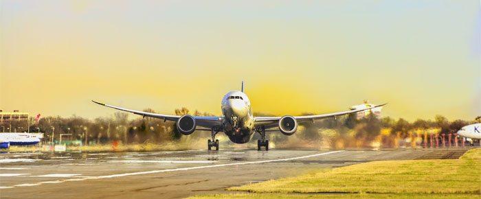 avião em terra