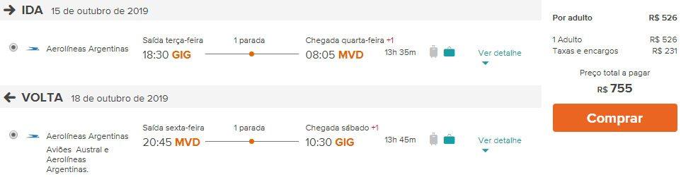 voo promoção Uruguai