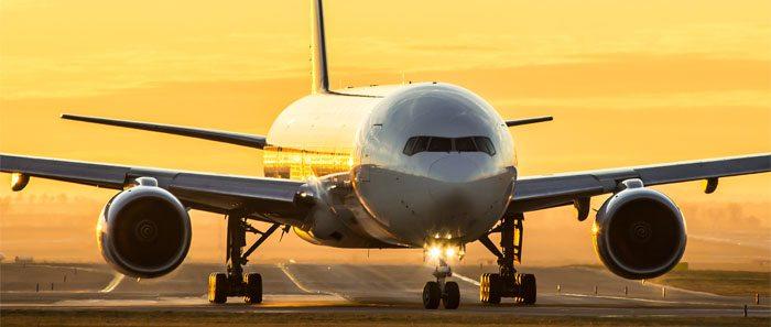 aeronave na pista