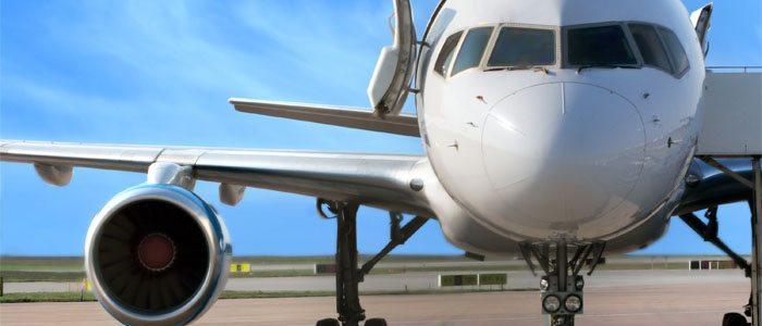 avião no solo