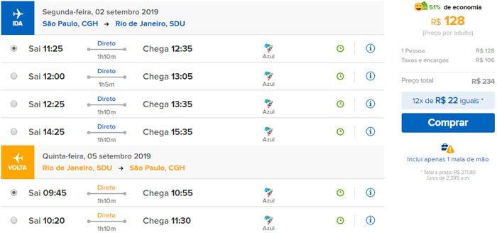 azul ofertas de passagens aéreas