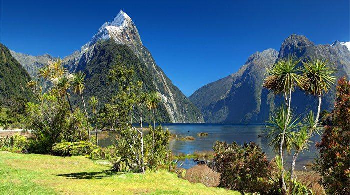 Montanha na Nova Zelândia