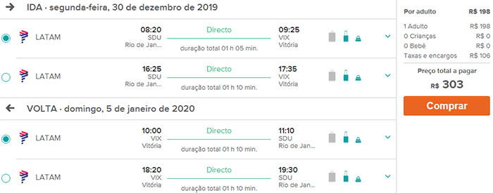 passagens latam dezembro 2019 janeiro 2020