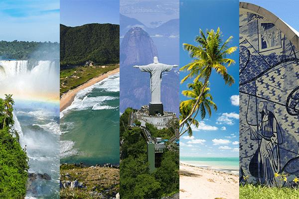 Cinco destinos nacionais