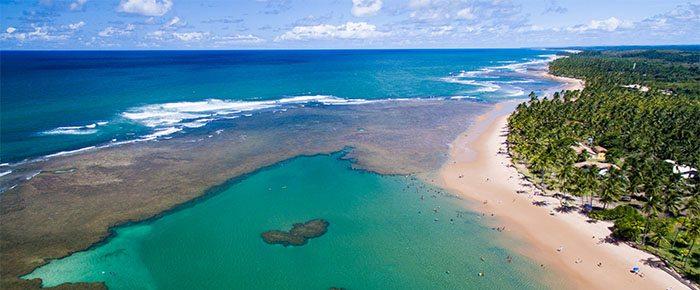 Praia no Nordeste do Brasil