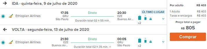 Buenos Aires voos promocionais