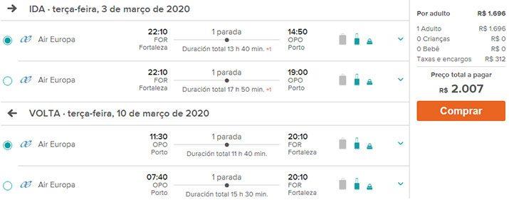 Ofertas passagens Portugal