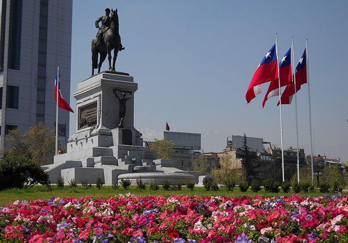 Monumento em Santiago, no Chile.