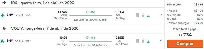 ofertas santiago voos