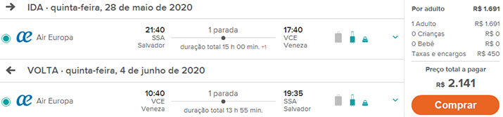 Passagens Itália